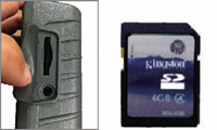 SDカード(最大32GB)へ動画・静止画の記録可能