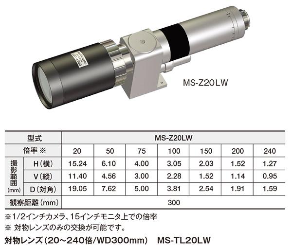 超長距離ズームレンズ(20~240倍/WD300mm) MS-Z20LW