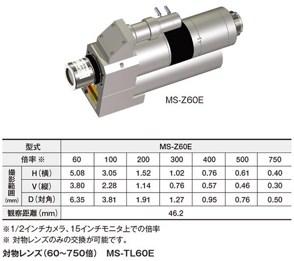 高倍率ズームレンズ(60~750倍/電動) MS-Z60E